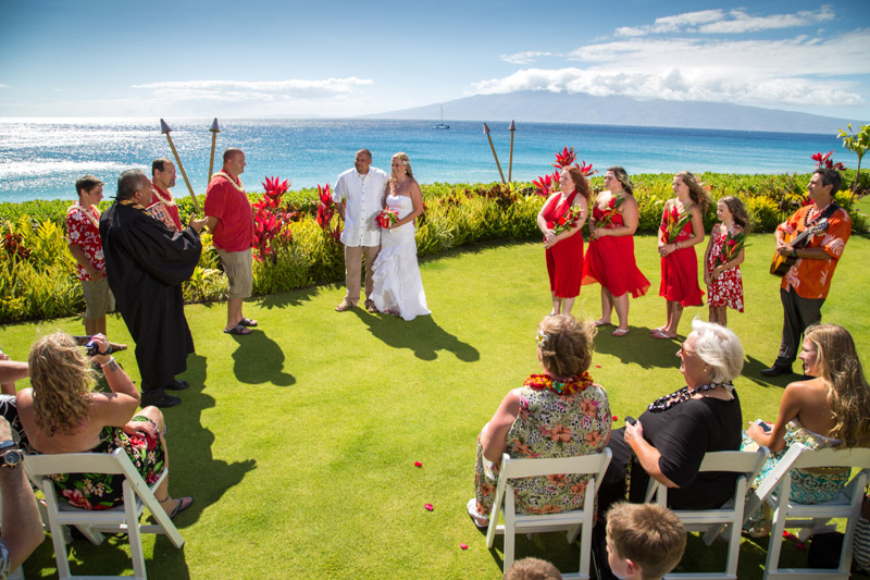 Lahaina Shores Beach Resort Wedding